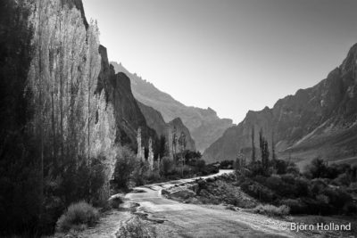 Fine-Art Print Of Autumn in the Karakorum Mountains