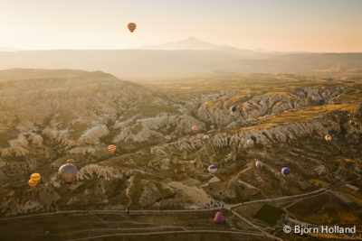 Fine-Art Print Of Balloons at sunrise