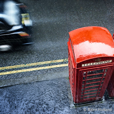 Fine-Art Print of Rainy Day, London, England